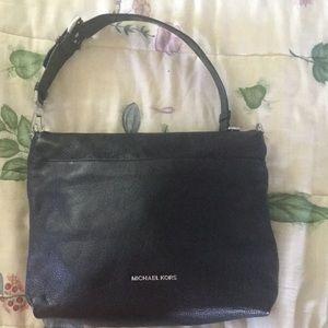 NWOT ROOMY Michael Kors Pebbled Black Leather Bag